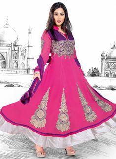 Eye-Catching Appliqued Georgette Anarkali Suit