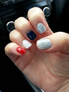 My 4th of July anc nails