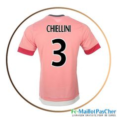 Maillot football Juventus rose CHIELLINI 3 Exterieur 15 2016 2017