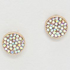 delicate colored stud earrings. Love them!