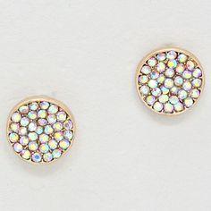 Crystal Pebble Earrings in Iridescence