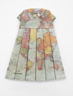 """These dresses are made by artist Elisabeth Lecourt and they are called """"Les Robes Geographiques"""""""