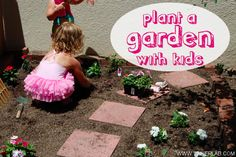 Do you have a little spot of dirt for your kids to garden in? If not, today I'd like to challenge you to think about your outdoor spaces and see if you can come up with a spot that's just for the kids. It can be anything from a large plot to a couple of planters.