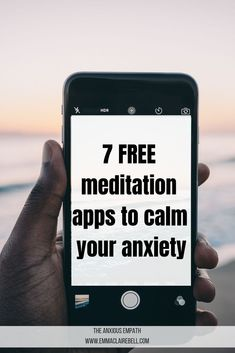 Feeling anxious or stressed? Use these 7 free meditation apps to help you relax, find your inner zen and better manage your anxiety. Best Meditation, Mindfulness Meditation, Guided Meditation, Meditation Apps Free, Mindfulness Practice, Anxiety Relief, Stress And Anxiety, Anxiety Tips, Different Types Of Meditation