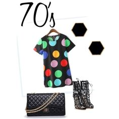 The 70's are here by carolinamizan on Polyvore featuring polyvore, fashion, style, RainbowDay, Sophia Webster, Chanel and Janna Conner Designs
