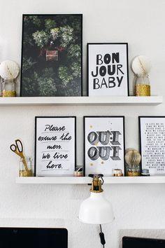 String Shelf, Gallery Wall, Wall Decor, Shelves, Creative, Frame, Prints, Home Decor, Style