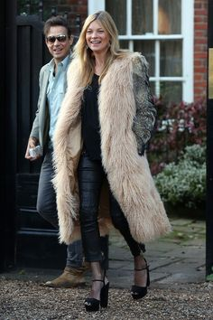 10 Best Dressed: Week of January 26, 2015 – Vogue Kate Moss Street Style #leatherweather #nmphilly inspired