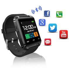 Barato Quente do bluetooth android relógio inteligente u8 para apple watch ios…