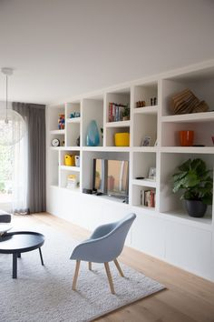 Home Interior Design And Makeover Tips Living Room Modern, Home Living Room, Interior Design Living Room, Living Room Designs, Living Room Decor, Kitchen Interior, Muebles Living, Living Room Shelves, New Homes