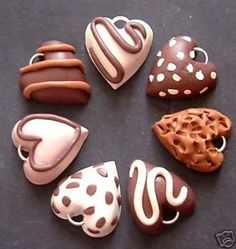 polymer clay chocolate charms