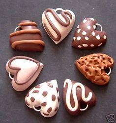polymer clay chocolate charms
