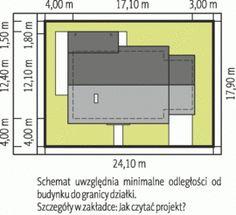 Sytuacja AC Kornel II (z wiatą) ENERGO CE Modern House Plans, Home Design Plans, Prefab, Sweet Home, Bob, Floor Plans, House Design, How To Plan, House Styles