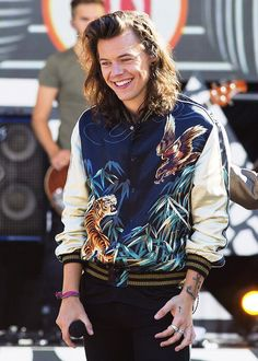 Harry styles we heart it – harry styles real name explained one direction infection Harry Styles Interview, Harry Styles 2015, Bae, One Direction Harry Styles, Satin Bomber Jacket, Portraits, Saint Laurent Paris, Good Morning America, Street Style