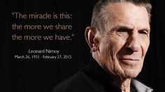 Leonard Nimoy - you will be missed.