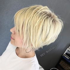 Finely Chopped Buttery Blonde Pixie