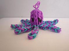 Cute rainbow loom octopus keychain/bag charm for sale - You choose the colours!