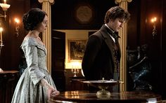 Tupence Middleton and Tom Weston-Jones as Miss Haversham & Compeyson in Dickensian (BBC 2016)