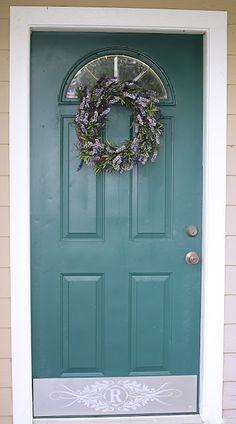 Front door kick plate monogram house number chevron Deck the Door Decor & Custom-Made Door Kick Plates | Pinterest | Kick plate Morrocan ...