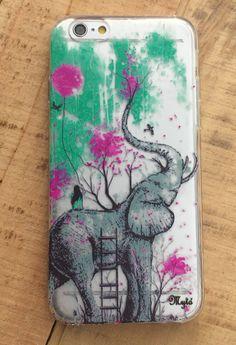 Acrigel : Elephant On Flowers - Mango Tango