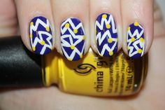 Love these. Feeling Static nail art by Polish You Pretty. Click the photo to see the full tutorial!