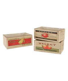 This Double Wood Planter Set by Wald Imports is perfect! #zulilyfinds