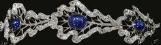 Von Thurn und Taxis cabochon sapphire bandeau tiara-German