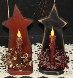 Bing : Primitive Wood Crafts prim stars with a grunged battery taper