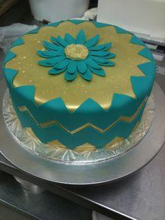 Chevron cake