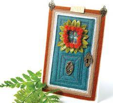 September Door of the Month > Creative Home Arts Club Art Club, Creative Home, Home Art, Stitching, September, Craft Ideas, Diy Crafts, Doors, Embroidery
