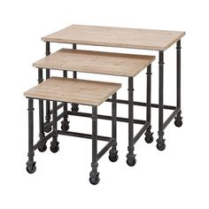 Trolley Nest Tables - Set of 3