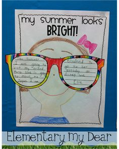 My Summer Looks Bright! Summer Writing Activity FREEBIE
