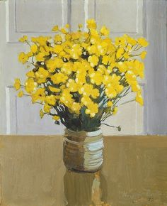 Buttercups / Fairfield Porter by summer Fairfield Porter, Still Life Artists, Paintings I Love, Flower Paintings, Beautiful Paintings, Art Graphique, Mellow Yellow, Yellow Art, Painting Inspiration