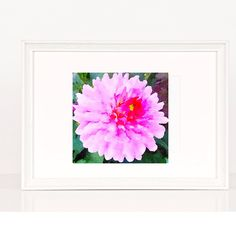 Bright Pink Dahlia - Printable - Watercolor - Instant Download -Pink Flowers ~  Watercolor Art Paintings ~ Valentine ~ Digital ~ Wall Art by Letters2Me on Etsy https://www.etsy.com/listing/491479081/bright-pink-dahlia-printable-watercolor