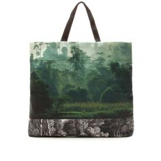 Dries Van Noten Photo-Print Canvas Shopper Tote ($740) ❤ liked on Polyvore
