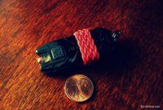 Gaucho knot on my Nitecore Tube LED keychain rechargeable flashlight.