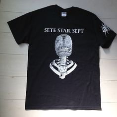 "SETE STAR SEPT ""Torture Machine"" T-shirt  Body: Gildan 2000 T-Shirt 6.1 oz. Ultra Cotton® Size: S, M, L, XL http://shop.7s7.org/merch/torture-machine-t-shirt-black"