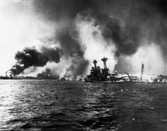 This photo shows the aftermath of the bombs dropped on Pearl Harbor by Japan during world war 2. This was what finally got the U.S to join the fight. Japan ended up surrendering.