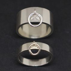 Master Slave Ring of O Couple Ring Set - Bdsm Bondage Slave Jewelry for Men and Women, Submissive, K Promise Rings For Couples, Couple Rings, Couple Jewelry, Horseshoe Ring, Sapphire Band, Small Rings, White Gold Diamonds, Rose Gold, Jewels