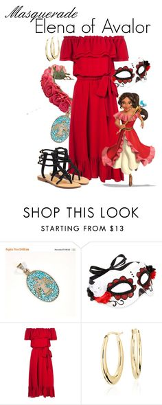 """""""Masquerade: Elena of Avalor"""" by jivy44 ❤ liked on Polyvore featuring Accessorize, Michael Kors, Disney, Blue Nile and Mystique"""