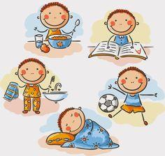 Buy Little Boy's Daily Activities by katya_dav on GraphicRiver. Little boy's daily activities, no gradients