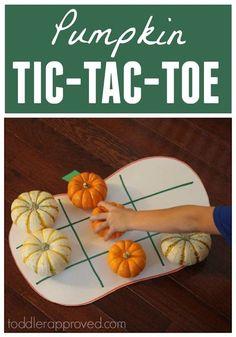 Toddler Approved!: Pumpkin Tic Tac Toe for Kids