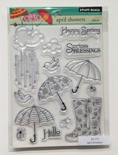 Wandering Star: CHA Winter 2013 - Penny Black Rubber Stamps - 'April Showers'