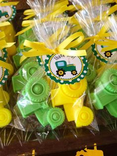 TRACTOR SOAP FAVORS (20 Soaps) - John Deere Inspired Birthday, Tractor Baby Shower, Construction Birthday, Farm