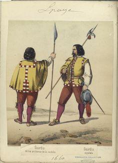 IndexGuardia de los archeros de la cuchilla; Guardia española. (1660)