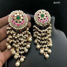 Ideas for jewerly simple bracelets jewels Indian Jewelry Earrings, Jewelry Design Earrings, Indian Wedding Jewelry, Royal Jewelry, Gold Jewellery Design, Silver Jewelry, Jewellery Box, Silver Ring, Silver Earrings