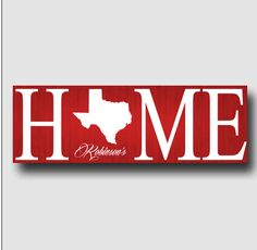"Personalized Home State 8"" x 24"" Canvas"