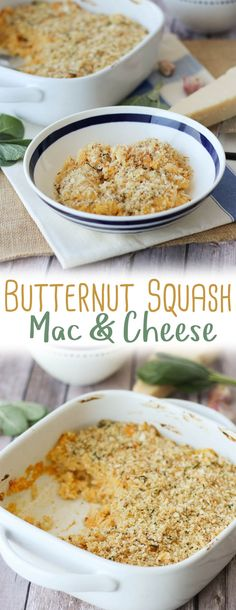 This healthy Butternut Squash Mac and Cheese features a sneaky mixture of whipped squash and low-cal cauliflower in place of the traditional butter-based roux. Healthy Dinner Recipes, Vegetarian Recipes, Vegetable Recipes, Healthy Meals, Healthy Food, Low Cal Dinner, Mac And Cheese Healthy, Butternut Squash Mac And Cheese, Vegetarian Casserole