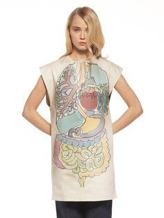 Estampado Vestido. Cuerpo humano #body #estampación #estampado #vestidob