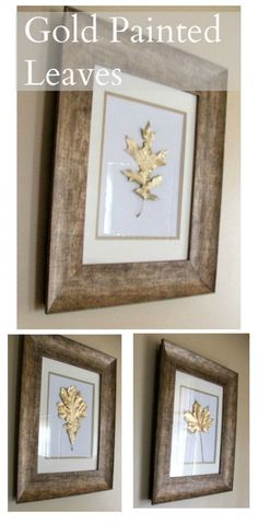 Easy DIY: Painted Gold Leaves