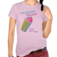 You have to admit, the fluffy, sugary-sweet texture and taste of a frozen drink can't be beat. Rep the frozen fluff army with this adorable and girly tee.